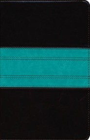 Imitation Leather Brown / Teal Large Print Red Letter