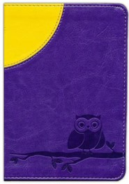 Imitation Leather Purple Owl