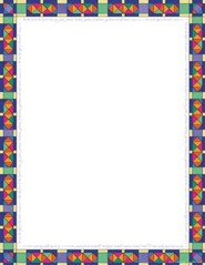 Stained Glass Computer & Writing Paper (50 Sheets)