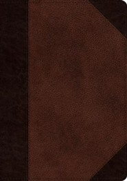 Imitation Leather Brown Large Print two-tone - Slightly Imperfect