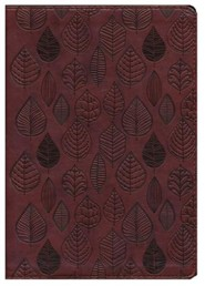 Imitation Leather Brown Large Print Leaves