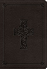 ESV Value Large Print Compact Bible (TruTone Imitation Leather, Charcoal, Celtic Cross Design)