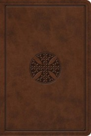 Imitation Leather Brown Mosaic Cross
