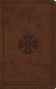 Imitation Leather Brown Book Red Letter Mosaic Cross