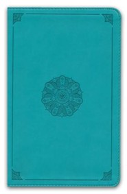 Imitation Leather Turquoise Book Red Letter Emblem