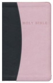 Imitation Leather Brown / Pink Large Print Book Red Letter