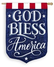 God Bless America, Large Applique Flag