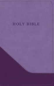 Imitation Leather Purple Large Print Book Red Letter
