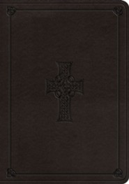 Imitation Leather Gray Large Print Book Black Letter Celtic