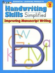 Handwriting Skills Simplified Level B: Improving Manuscript Writing