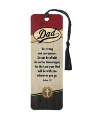 Dad, Be Strong and Courageous Bookmark