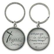 Faithful Servant, Metal Keyring, Matthew 25:23
