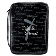 Faithful Servant, Vinyl Bible Cover, Large