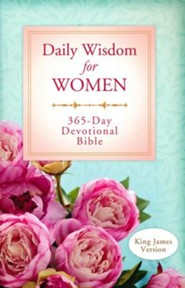 Daily Wisdom for Women 365-Day Devotional Bible - Slightly Imperfect
