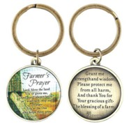 Farmer's Prayer, Metal Keyring