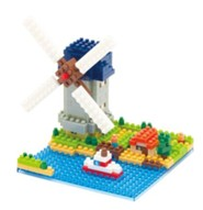Nanoblock Sights To See, Kinderdijk Windmill