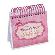 The Woman's Secret of a Happy Life Perpetual Calendar: Inspired by the Beloved Classic by Hannah Whitall Smith  -     By: Donna K. Maltese