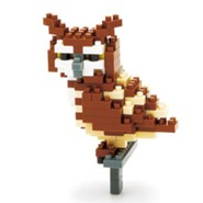 Nanoblock Mini, Great Horned Owl