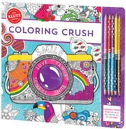Coloring Crush Book with Colored Pencils