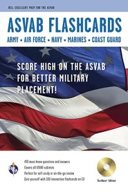 ASVAB - Armed Services Vocational Aptitude Battery Flashcard Book