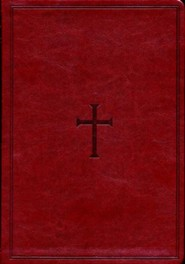 Imitation Leather Brown Book Red Letter Thumb Index Cross