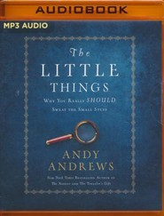 The Little Things: Why You Really Should Sweat the Small Stuff - unabridged audio book on MP3-CD