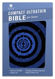HCSB Compact Ultrathin Bible for Teens--soft leather-look, blue vortex