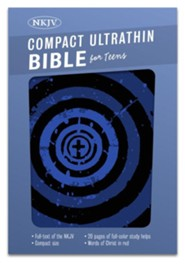 NKJV Compact Ultrathin Bible for Teens, Blue Vortex LeatherTouch  -