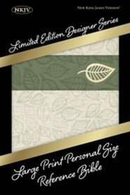Imitation Leather Green / Cream Book