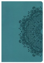 Imitation Leather Teal Large Print