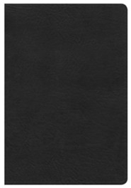 HCSB Compact Ultrathin Bible, Black LeatherTouch  -