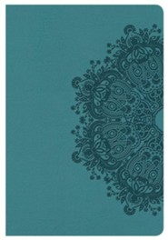 HCSB Compact Ultrathin Bible, Teal LeatherTouch  -