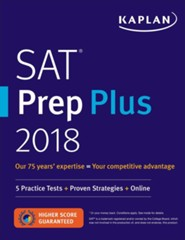 SAT 2018 Premier with 5 Practice Tests: Online + Book