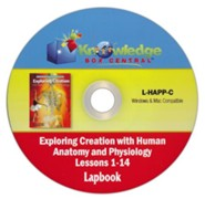 Apologia Exploring Creation with Human Anatomy & Physiology  Lapbook Package Lessons 1-14 PDF CD-ROM