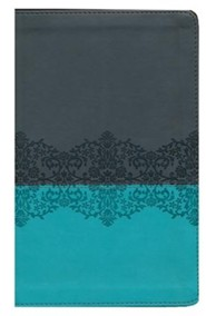 Imitation Leather Gray / Teal