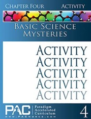 Basic Science Mysteries Activities Booklet, Chapter 4