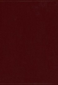 Imitation Leather Burgundy Book Red Letter