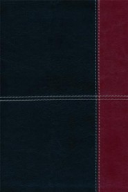 Imitation Leather Black / Burgundy Large Print Book