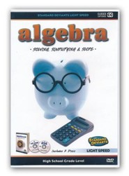 Light Speed Algebra: Solving, Simplifying, and Slope DVD