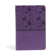 CSB Large Print Personal Size Reference Bible, Purple LeatherTouch  -