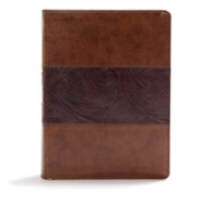 Imitation Leather Brown Thumb Index two-tone