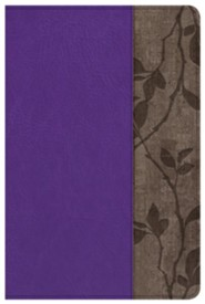 KJV Personal Size Study Bible, Purple with Brown Cork LeatherTouch, Thumb-Indexed  -