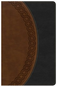Imitation Leather Black / Brown Large Print Thumb Index
