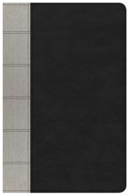 Imitation Leather Black / Gray Large Print Thumb Index