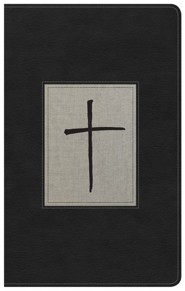 KJV Ultrathin Reference Bible, Black & Gray Deluxe LeatherTouch, Thumb-Indexed