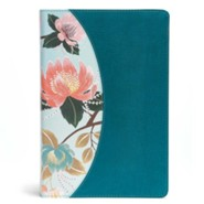 The CSB Study Bible for Women, Teal Flowers LeatherTouch, Thumb-Indexed
