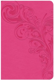 CSB Compact Ultrathin Reference Bible, Pink LeatherTouch