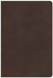 CSB Super Giant Print Reference Bible, Black Genuine Leather, Thumb-Indexed