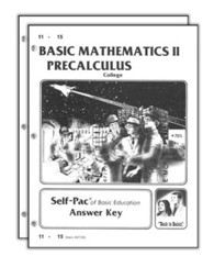 Basic Mathematics II: Precalculus Answer Keys 11-20, Advanced HS/College