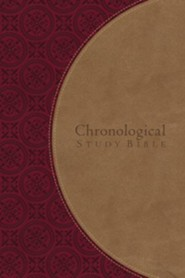 NKJV The Chronological Study Bible, Imitation Leather, Berry